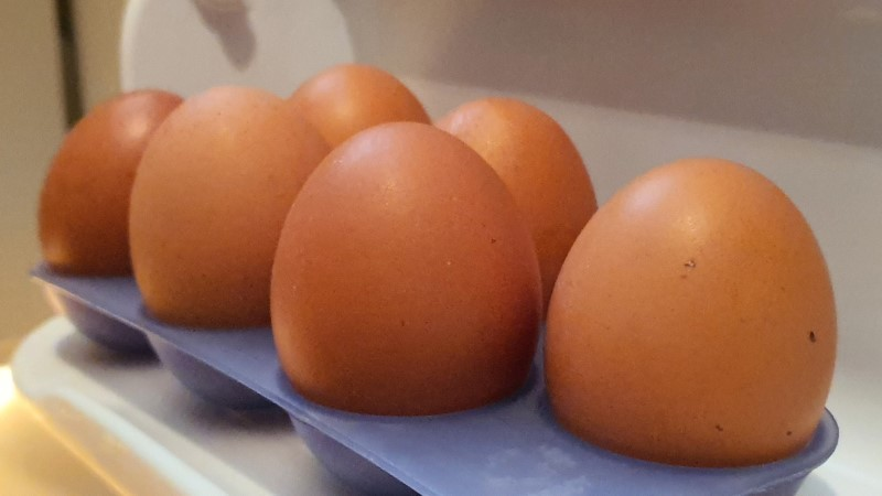 Eggs stored in fridge