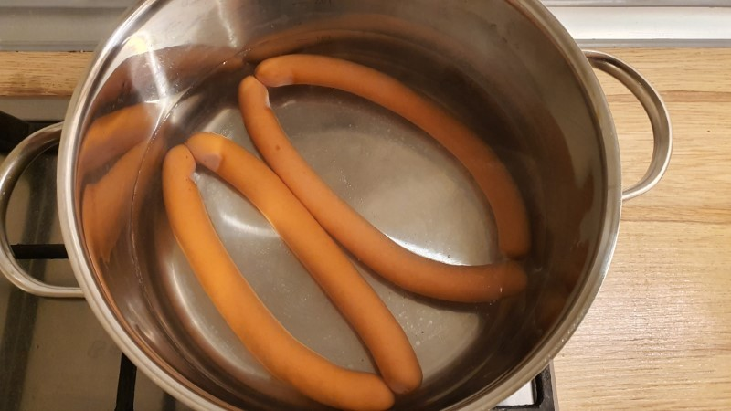 Boiling hot dogs 1