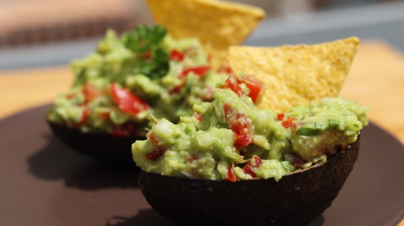 Guacamole in avocado