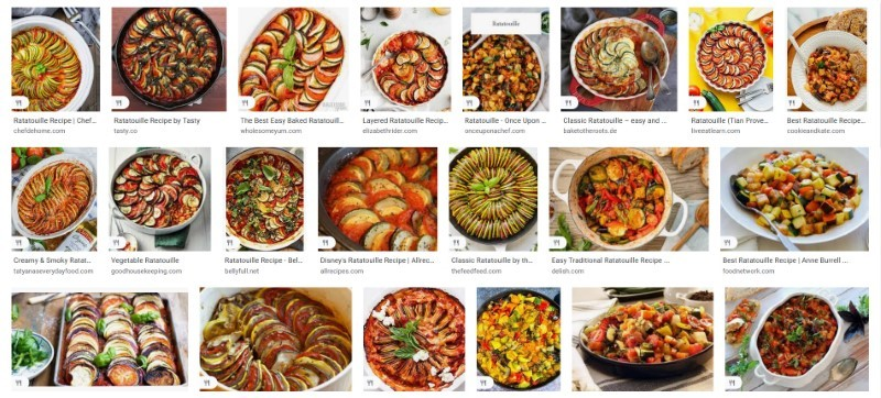 Ratatouille image search results in the US