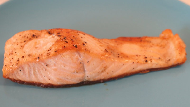 Perfectly baked salmon fillet