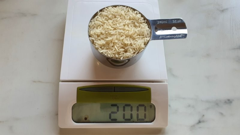 1 cup jasmine rice in grams
